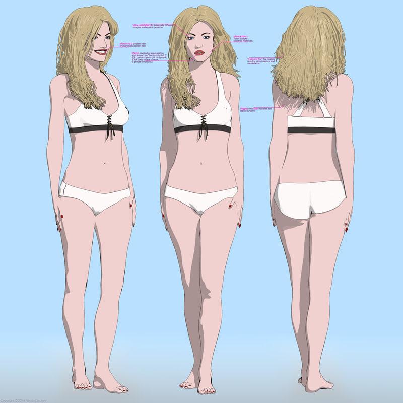 anna cartoon female body woman max