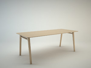 free table pontoon 3d model