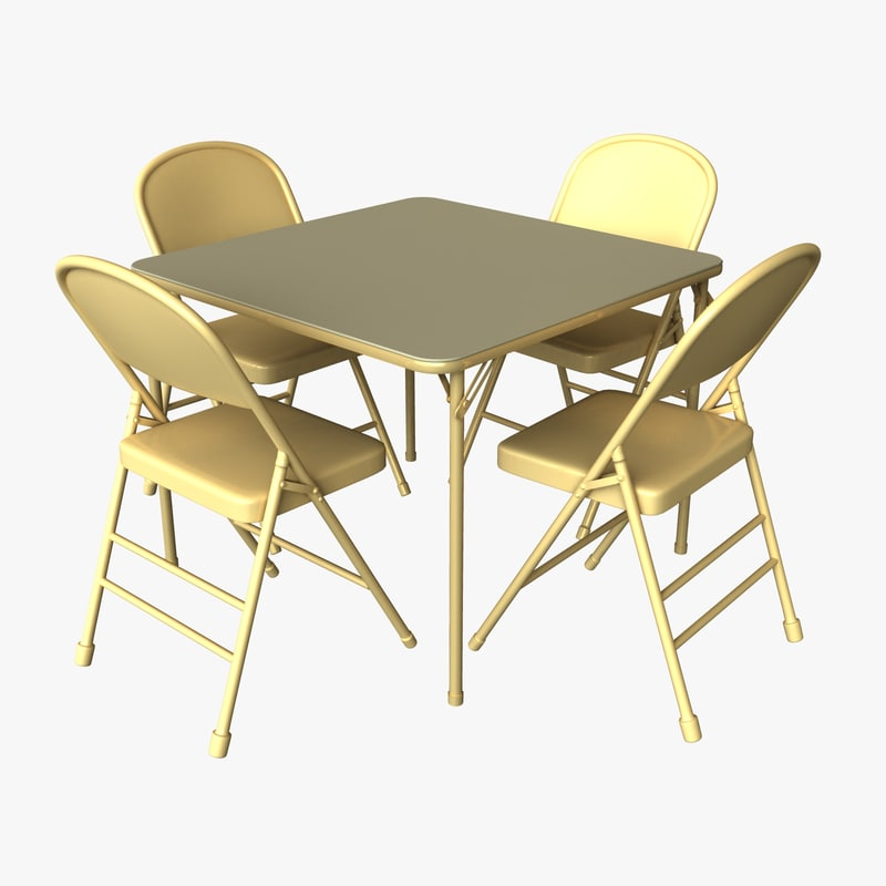 folding table chairs model - Folding Table And Chairs