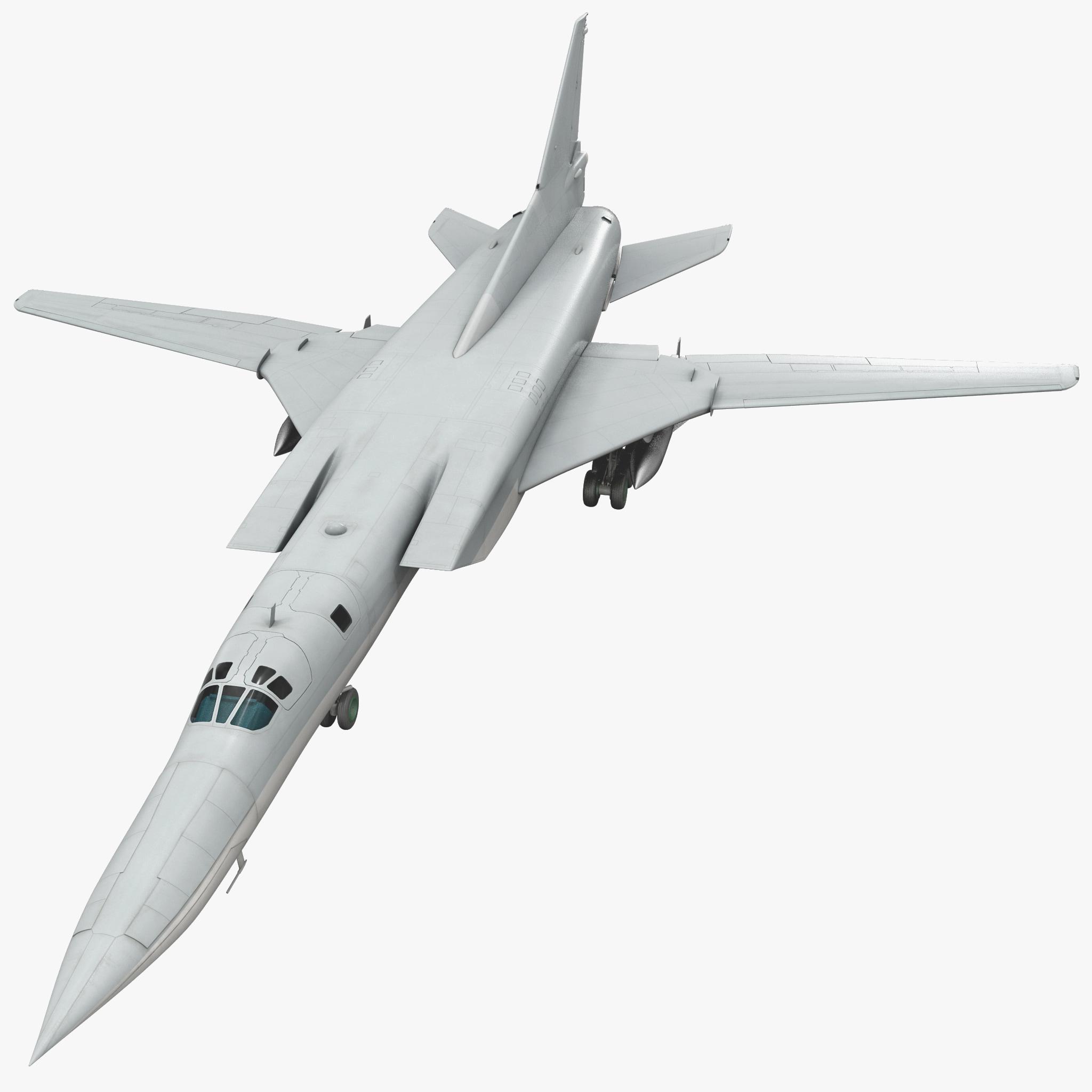 russian strategic bomber tu 3d model