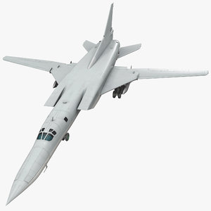 russian strategic bomber tu 3d model