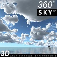 Sky 3D Clouded 004