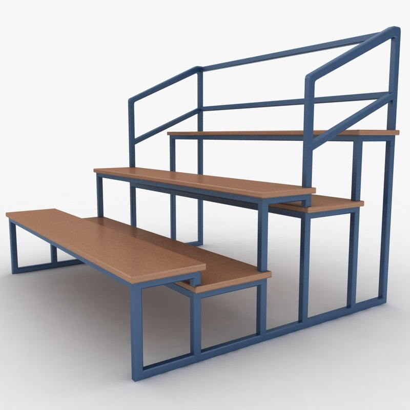 3d substitutes bench model