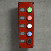 3d buttons board model