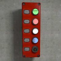 3d buttons board model