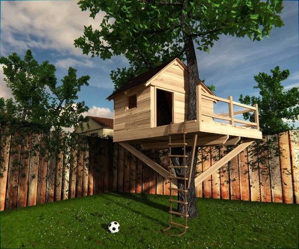 3d model treehouse tree house