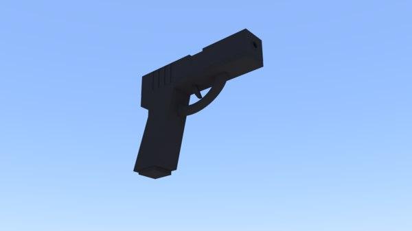 free glock pistol 3d model