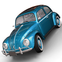 3d model old volkswagen beetle