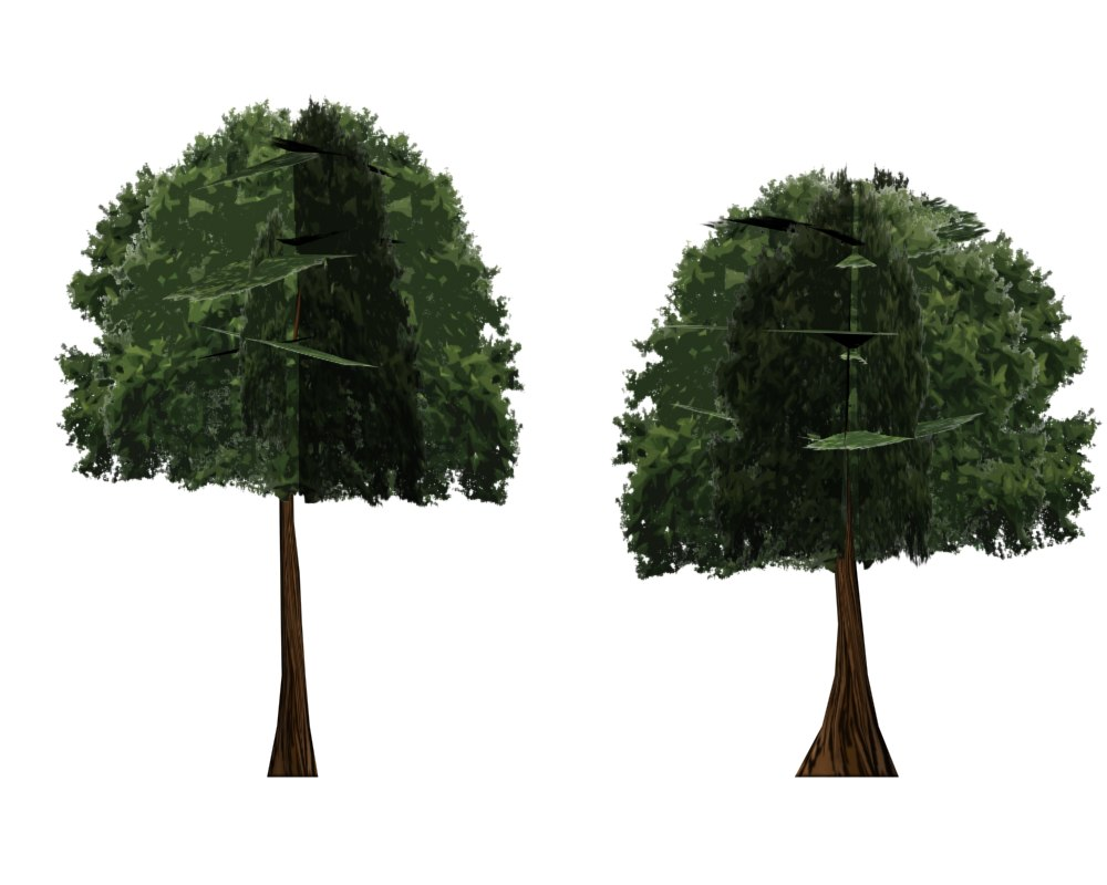 max cartoon trees