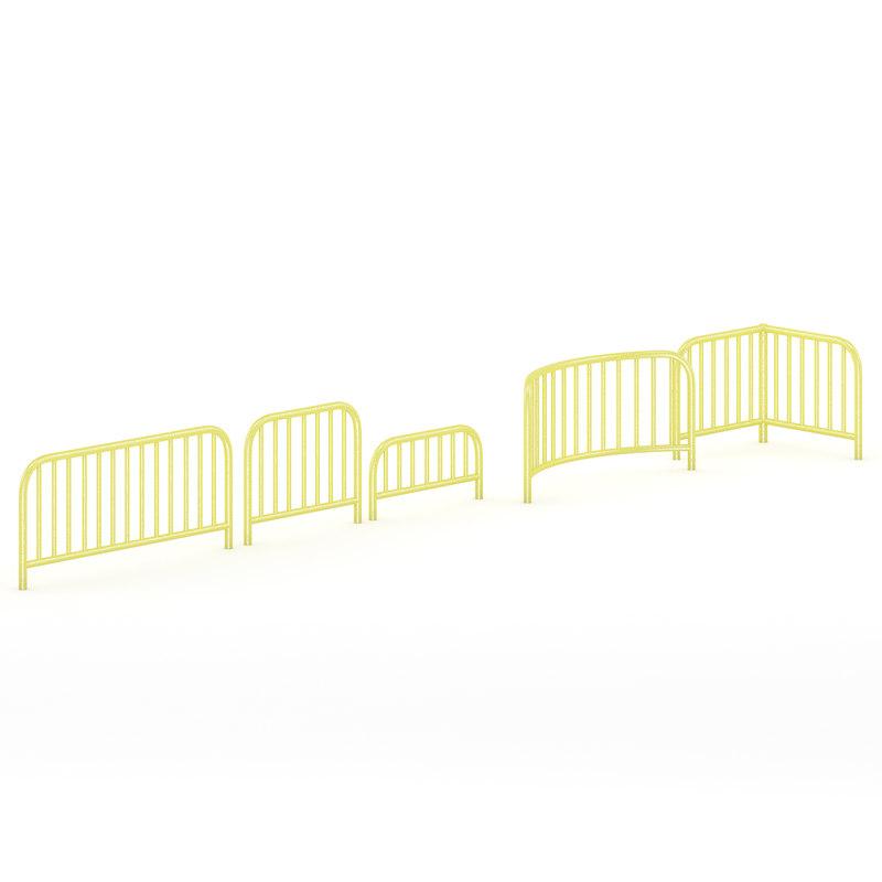 yellow sidewalk barrier c4d