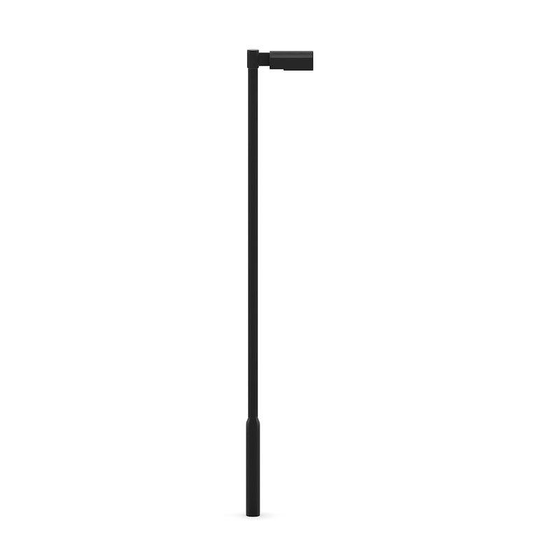 3d model of black lamp street