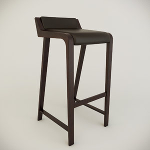 3d simple bar chair