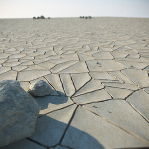 desert stones rock 3d model