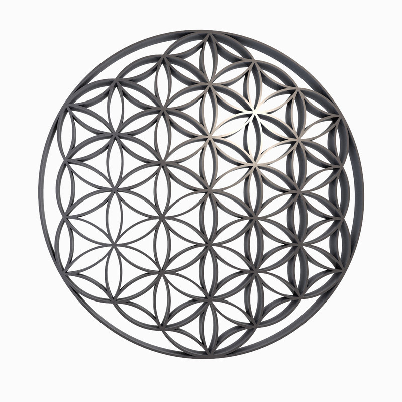 how to draw 3d flower of life