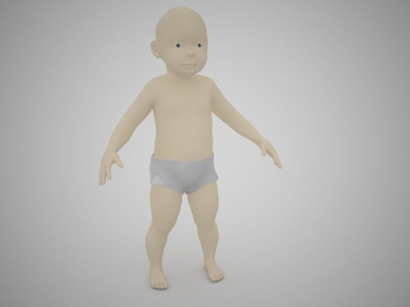 3ds max child rigged