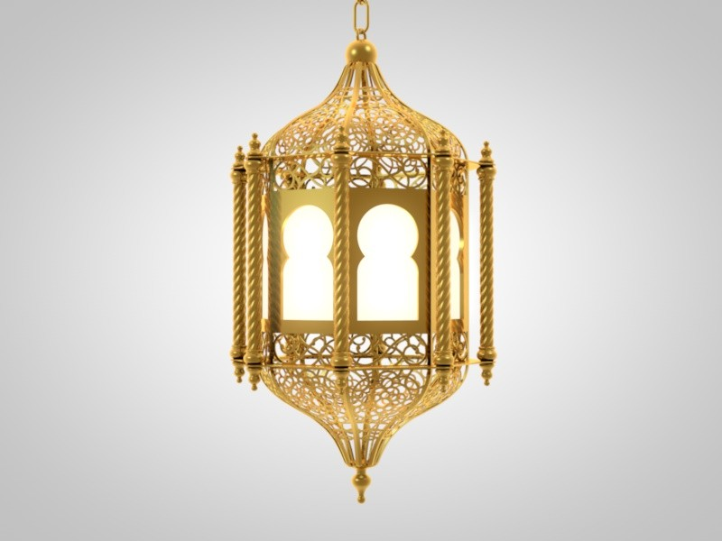 arabic lantern lighting 3d model