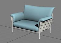 modern sofa metal leg 3d max