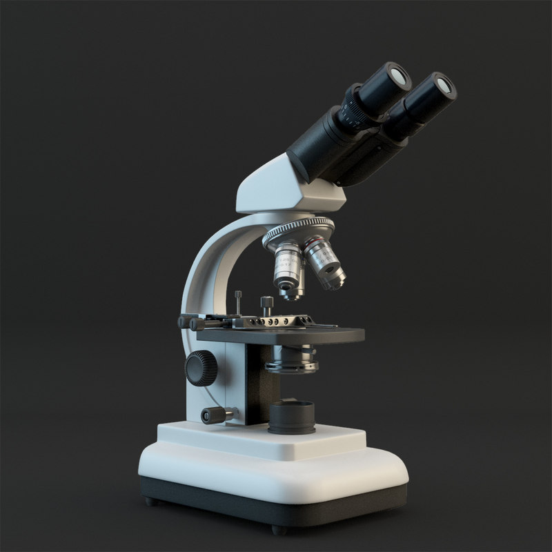 microscope micro 3d model