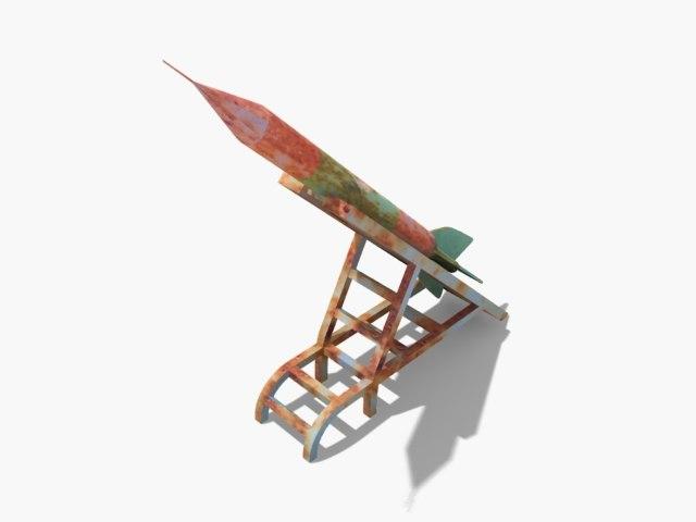 qassam missile 3d model