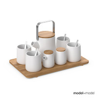 3d model kookii tea set
