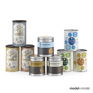 3d baking mix cans model