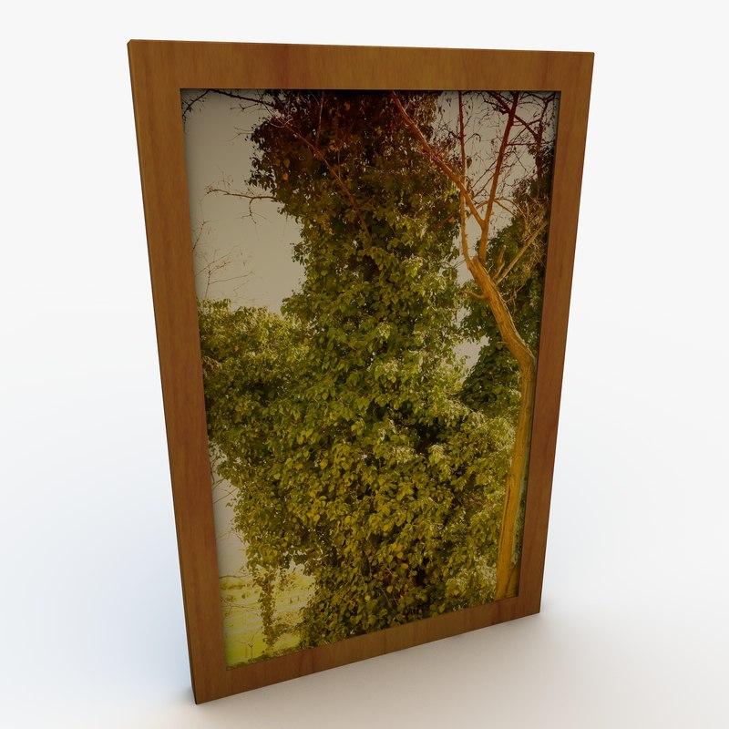 contemporary art frame 3d obj