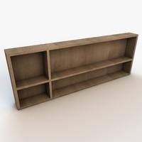 book shelf 3d max