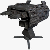 3d sci fi turret model