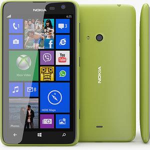 3d nokia lumia 625 model