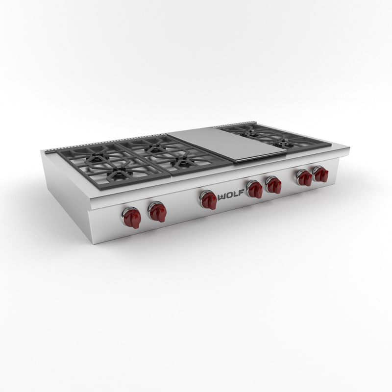 3d wolf cooktop