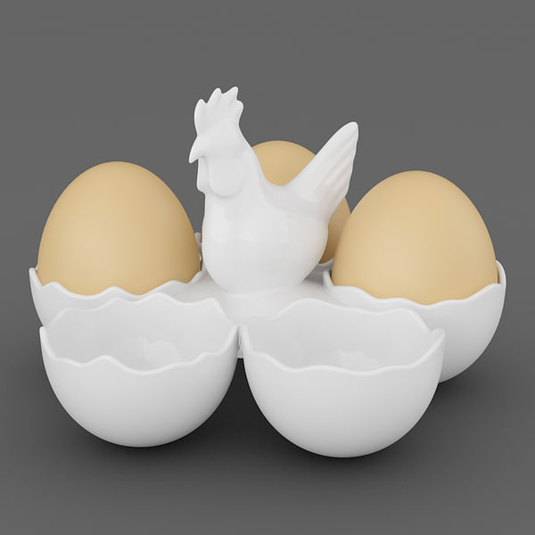 3d max egg holder chicken