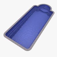 plastic pool 3d max