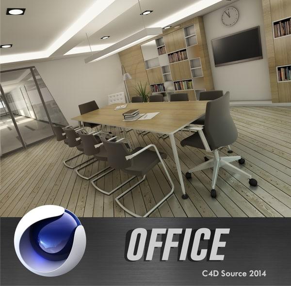 office design 3d c4d