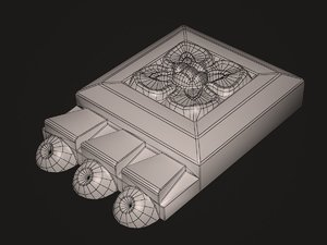 3d decorative stone model