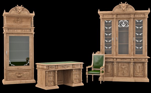3dsmax classical antiquarian room
