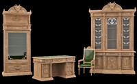 Classical antiquarian room set of furniture