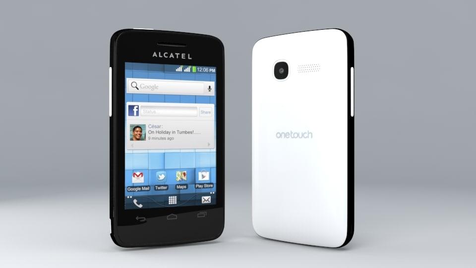 3d model alcatel pixi onetouch 4007