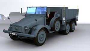 krupp protze kfz70 wwii 3d model