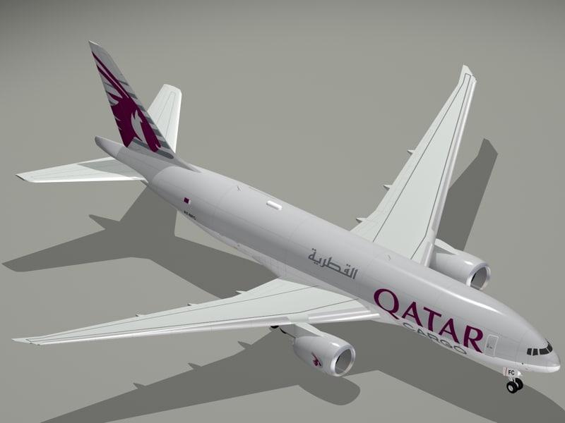 b qatar airways cargo 3d 3ds