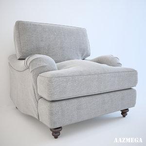 baker 6601c bishop chair 3d model