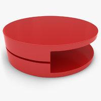 3d realistic table basse rodelle model