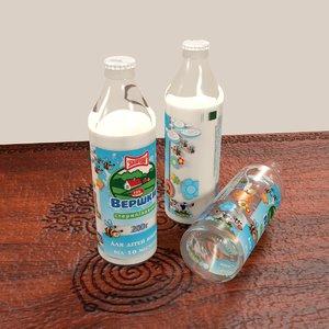 bottle milk 3d model