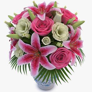 3d bouquet 02 model