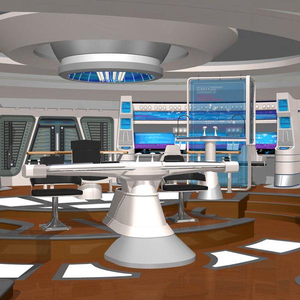 3d starship bridge xi poser model
