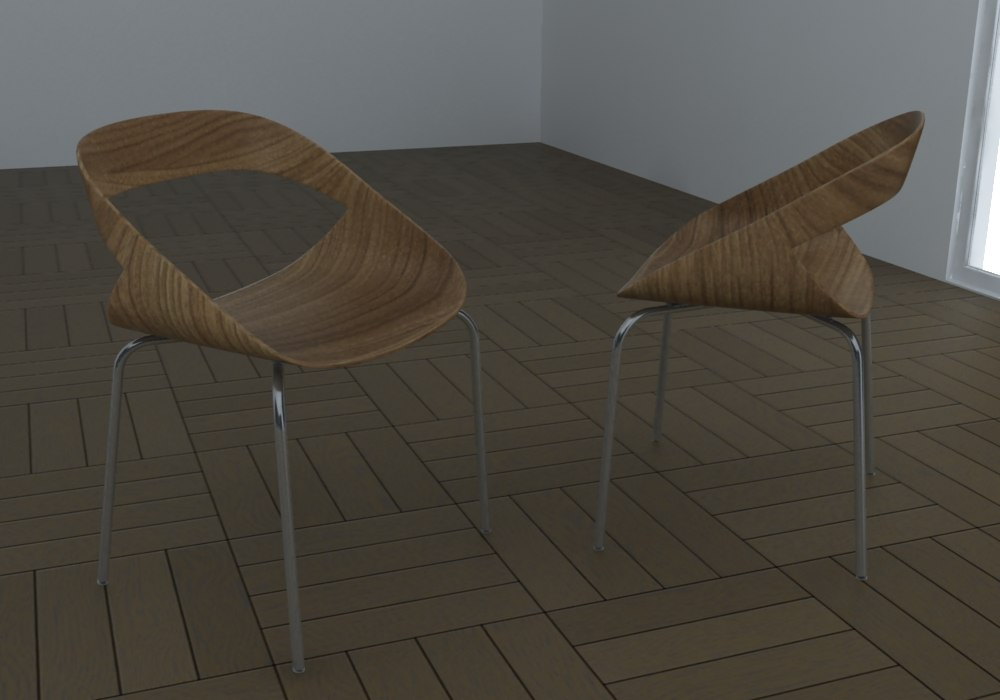chair geoffrey h 3d model