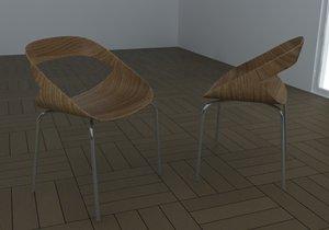 chair geoffrey h 3d model