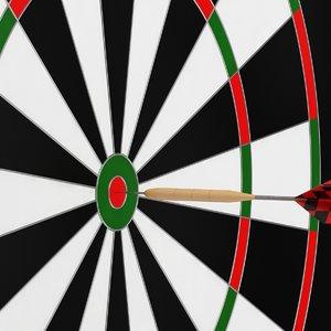 3d model dart dartboard
