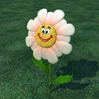 3ds cartoon flower