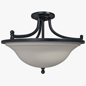 3d flush mount light valhalla
