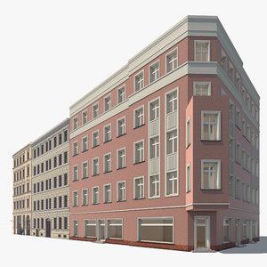 3d model apartment buildings berlin